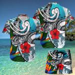 Turtle Samoa Beach Hawaii Shirt and Short Set