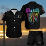 Faith Hope Love Wings Hawaii Shirt and Short Set
