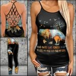 Into The Forest I Go Camping Bear Criss-cross Tanktop and Legging set