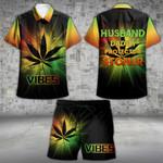 Stoner Vibe Hawaii Shirt and Short Set