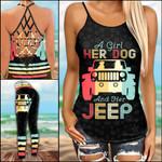 Jeep Dog Retro Criss-cross Tanktop and Legging set