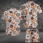 Cat Lover Hawaii Shirt and Short Set