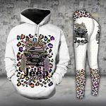 Jeep Girl Leopard Pattern Legging and Hoodie Set