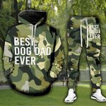 Best Dog Dad Ever Green Tshirt and Sweatpants Set