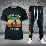 Best Dad By Par Golf 1 Tshirt and Sweatpants Set