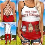 Chicken Butt Nuggets Crisscross Tanktop and Legging set