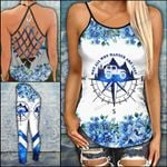 Jeep Girl Not All Who Wander Are Lost Criss-cross Tanktop and Legging set (buy both for 10% discount)