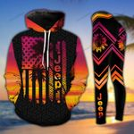 Jeep Pink Sunset Legging and Hoodie Set