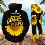 Jeep Sunflower Legging and Hoodie Set