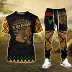 Black Father Tshirt Hoodie and Sweatpants Set