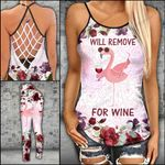 Will Remove For Wine Criss-cross Tanktop and Legging set (buy both for 10% discount)