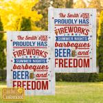 Personalized Summer Fireworks Garden Flag