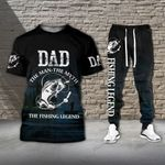 Dad The Man The Myth The Fishing Legend Tshirt and Sweatpants Set