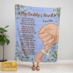 My Daddy's Hand - Blue Fleece Blanket