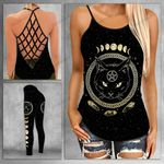 Cat Witch Moon Criss-cross Tanktop and Legging set (buy both for 10% discount)