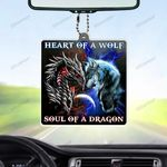 Dragon Soul Wolf Heart Flat Car Ornament (buy more for discount)