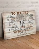 To My Dad Canvas