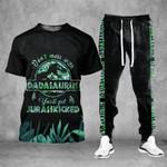Dadasaurus Tropical Leaf Tshirt and Sweatpants Set