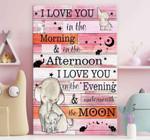 Elephant Love Pink Canvas
