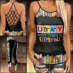 Reading Library Criss-cross Tanktop and Legging set (buy both for 10% discount)