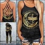 Hello Darkness My Old Friend Criss-cross Tanktop and Legging set (buy both for 10% discount)
