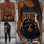 Unapologeticaly Dope Criss-cross Tanktop and Legging set (buy both for 10% discount)
