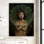 Witch Into The Forest Canvas & Poster