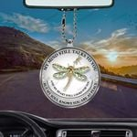 Dragonfly Memorial My Mind Still Talks To You Flat Car Ornament (buy more for discount)