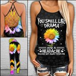 You Smell Like Drama Criss-cross Tanktop and Legging set (buy both for 10% discount)
