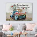 Broken Road Truck Cardinal Canvas & Poster