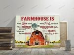 Red Farmhouse Hearts Always Be There Canvas & Poster
