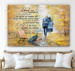Love As True As Mine Old Couple Canvas & Poster