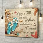 Flip Flop Give A Girl The Right Shoes Canvas