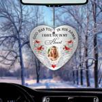 In My Heart Cardinal Bird Heart Ornament