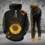 Love Butterfly Sunflower Legging and Hoodie Set