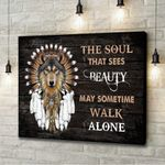 Native American The Soul That Sees Beauty Canvas
