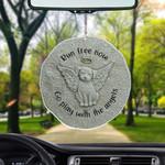 Run Free Now Dog Flat Car Ornament