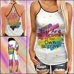 LGBT You Are The Designer Criss-cross Tanktop and Legging set (buy both for 10% discount)