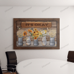 Sunflowers And Daisies Canvas & Poster