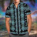 Skull Teal Hawaii Shirt