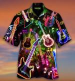 Retro Abstract Guitars Hawaii Shirt - TG0721