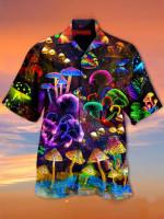 Dark Mushroom Abstract Hawaii Shirt - TG0721