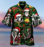 Funny Skull Christmas Hawaii Shirt - TG0721