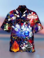 Abstract Bowling Hawaii Shirt - TG0721