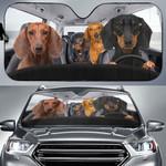 Dachshunds Family Driving Car Sunshade - TG0721HN