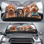 Goldendoodle Family Driving Car Sunshade - TG0721HN