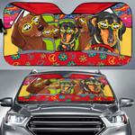 Dachshund Highway Driving Car Sunshade - TG0721QA