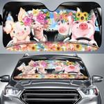Flower Pigs Driving Car Sunshade - TG0721HN