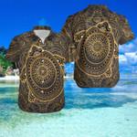Turtle Gold Polynesian Hawaii Shirt and Short Set - NN0721OS
