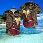 Turtle Gold Hibiscus Hawaii Shirt and Short Set - NN0721OS